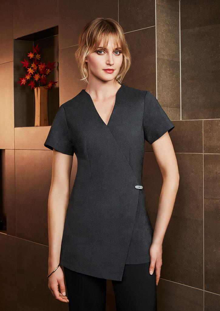 Spa wrap tunic h630l uniform for Spa uniform tops