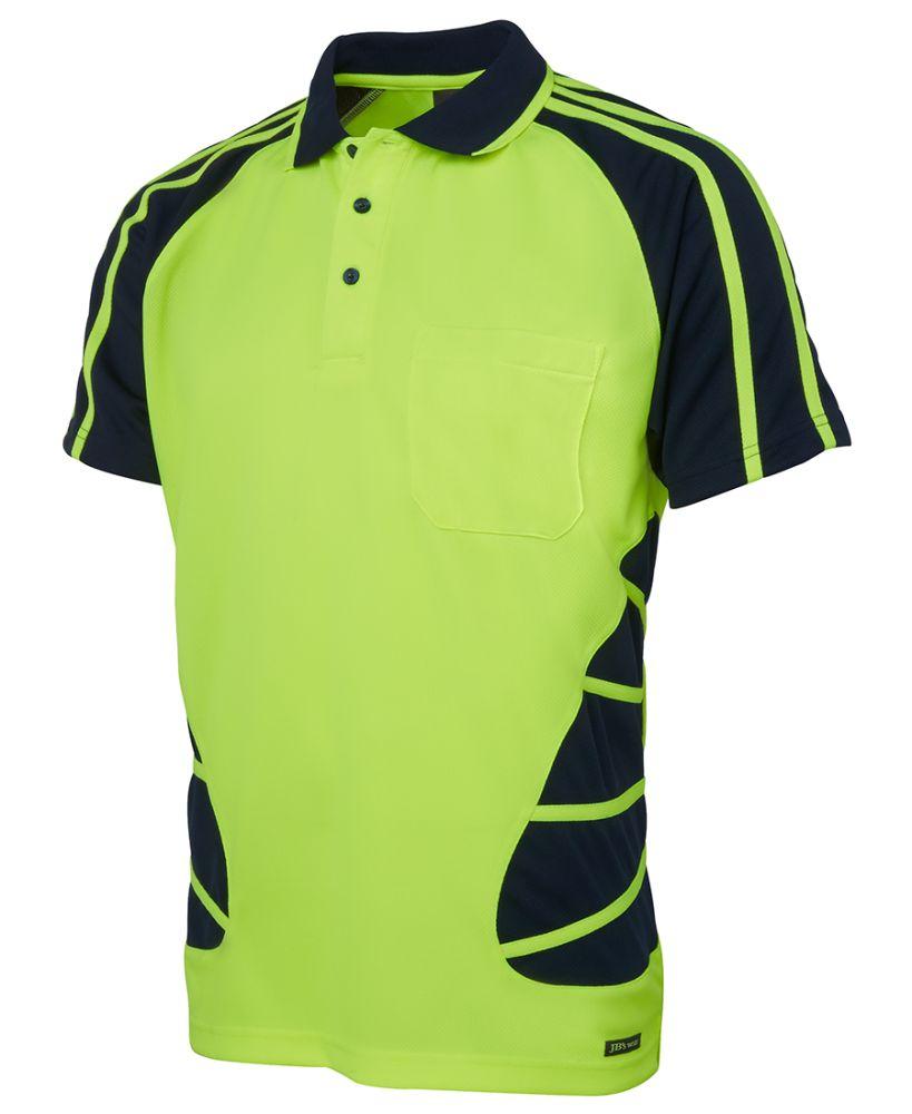 Hi vis spider polo 6hsp uniform for Purple polo uniform shirts