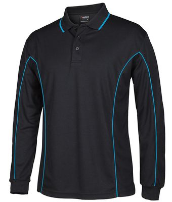 Long Sleeve Piping Polo