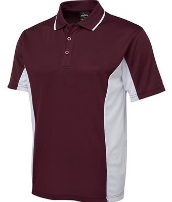 Mens Contrast Poly Polo